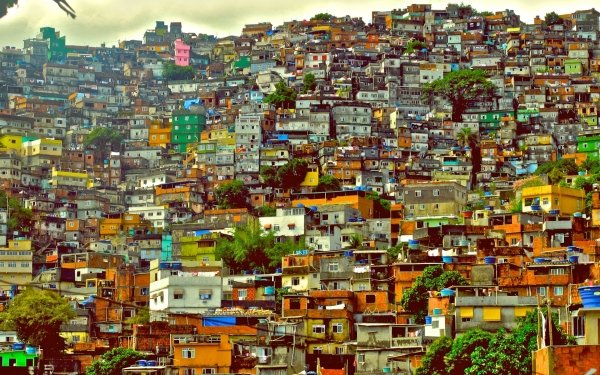 Man Made Favela Brazil City House Rio de Janeiro HD Wallpaper | Background Image