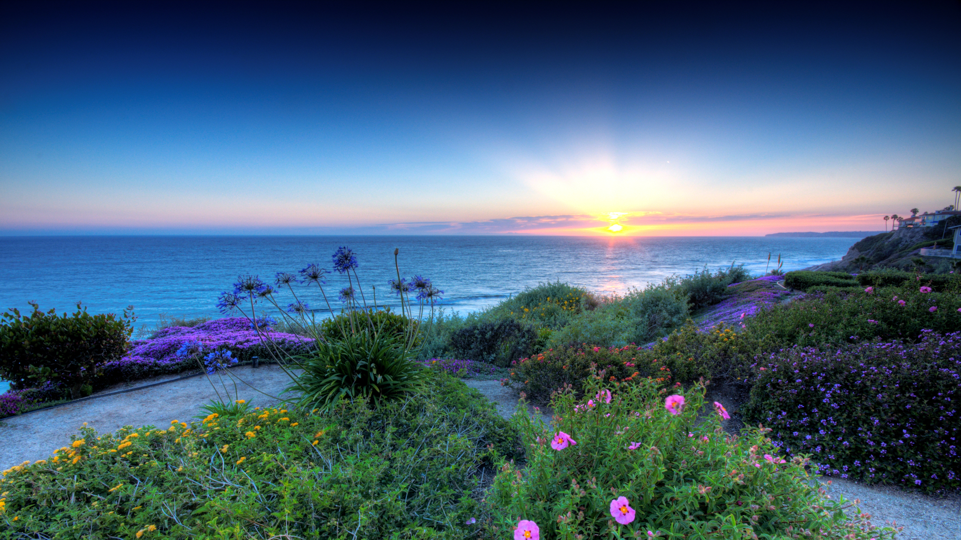 Coastline full hd wallpaper and background image 1920x1080 id694079 earth coastline earth horizon ocean flower sunset wallpaper voltagebd Image collections