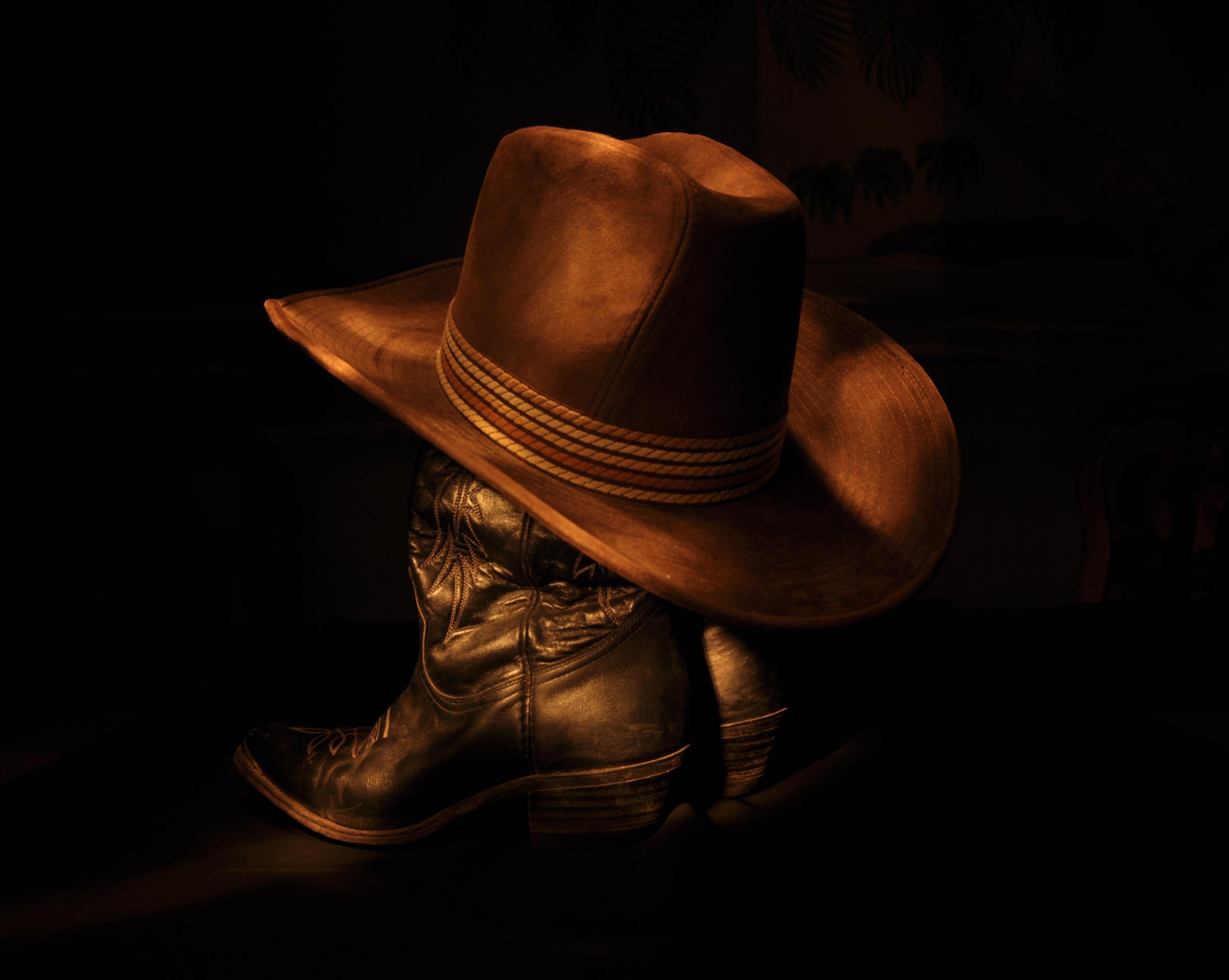Cowboy hat and cowboy boots HD Wallpaper