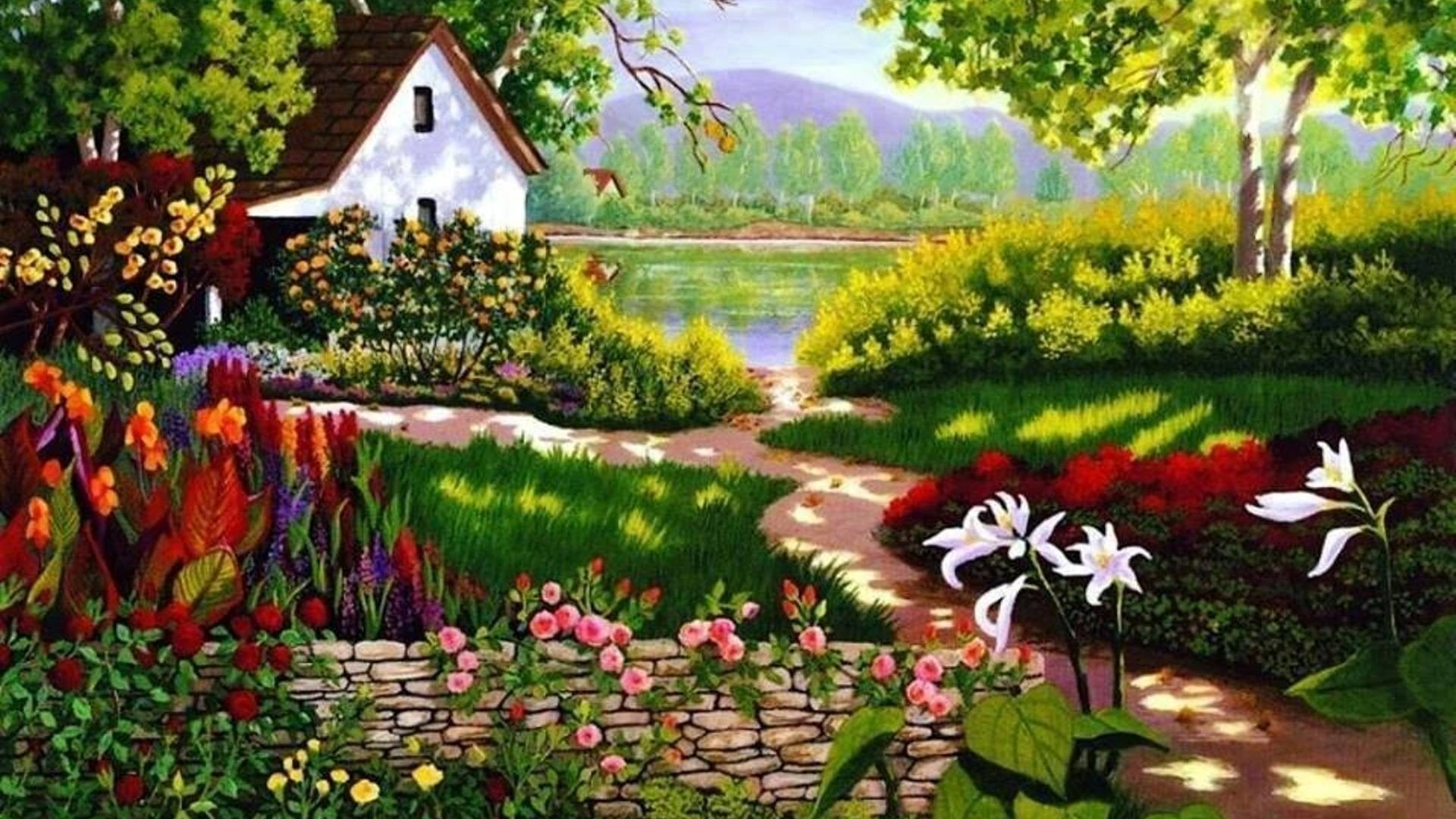 Spring Painting Hd Wallpaper Background Image