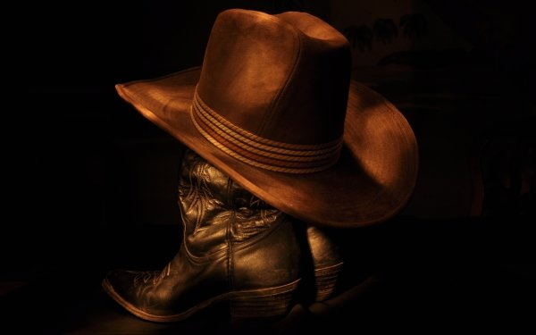 Photography Cowboy Hat Boots Still Life HD Wallpaper | Background Image