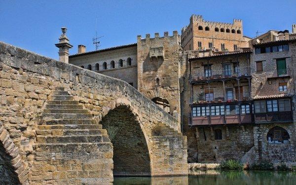 Man Made Bridge Bridges Valderrobres Spain HD Wallpaper | Background Image