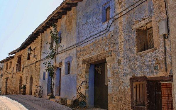 Man Made House Buildings Valderrobres Spain HD Wallpaper | Background Image