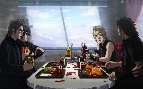 Anime Brotherhood: Final Fantasy XV Prompto Argentum Gladiolus Amicitia Ignis Scientia Noctis Lucis Caelum HD Wallpaper | Background Image