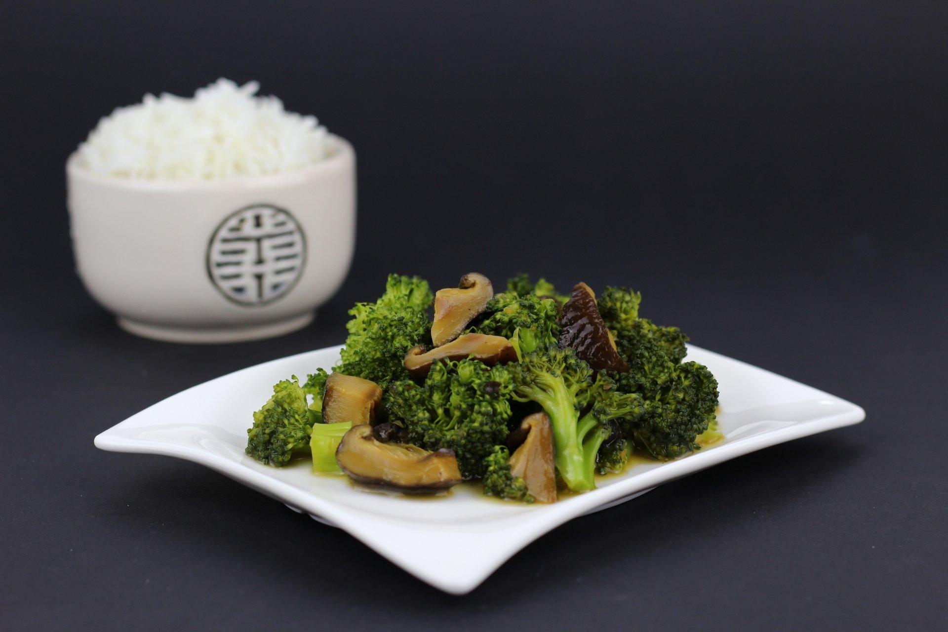 Food - Meal  Mushroom Broccoli Rice Wallpaper