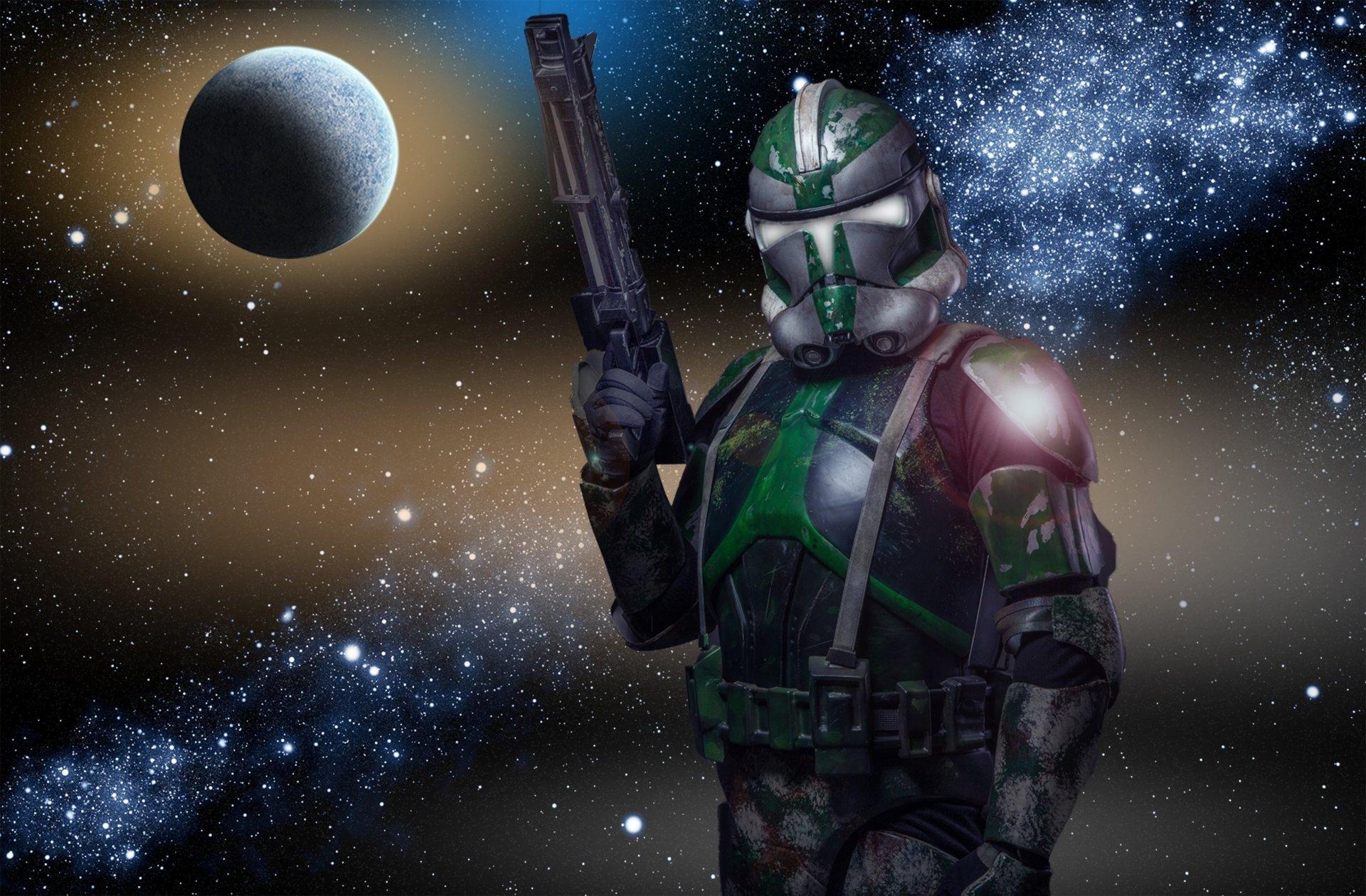 Sci Fi Clone : Colored clone trooper full hd wallpaper and background