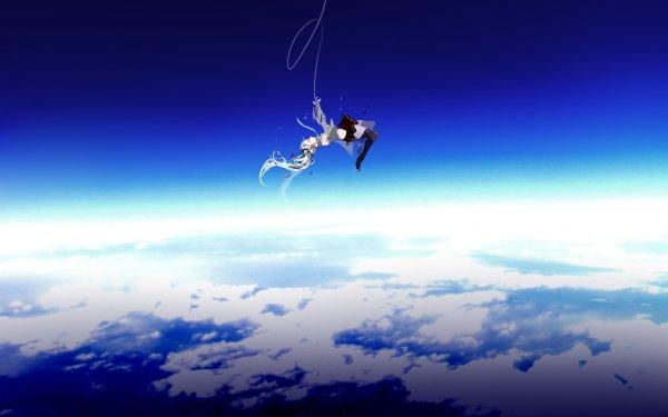 Anime Vocaloid Hatsune Miku Ciel Falling Fond d'écran HD | Arrière-Plan