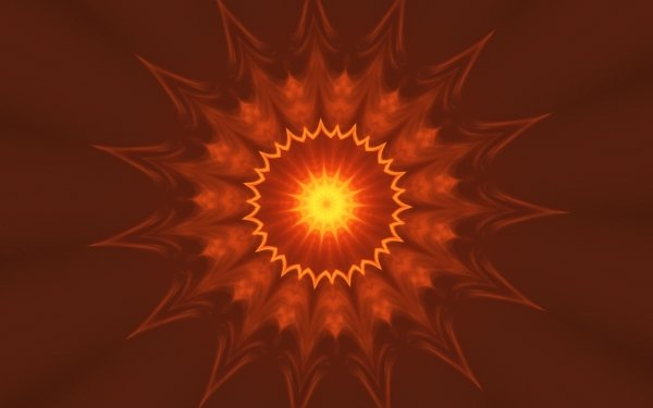 Abstract Orange orange Yellow Kaleidoscope HD Wallpaper | Background Image