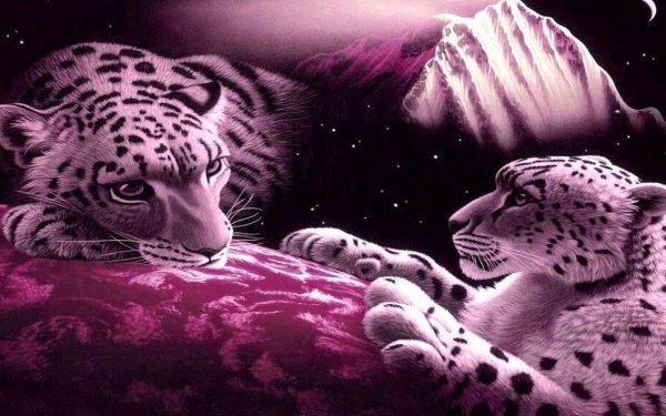 Fantasy Animal Fantasy Animals Snow Leopard HD Wallpaper   Background Image