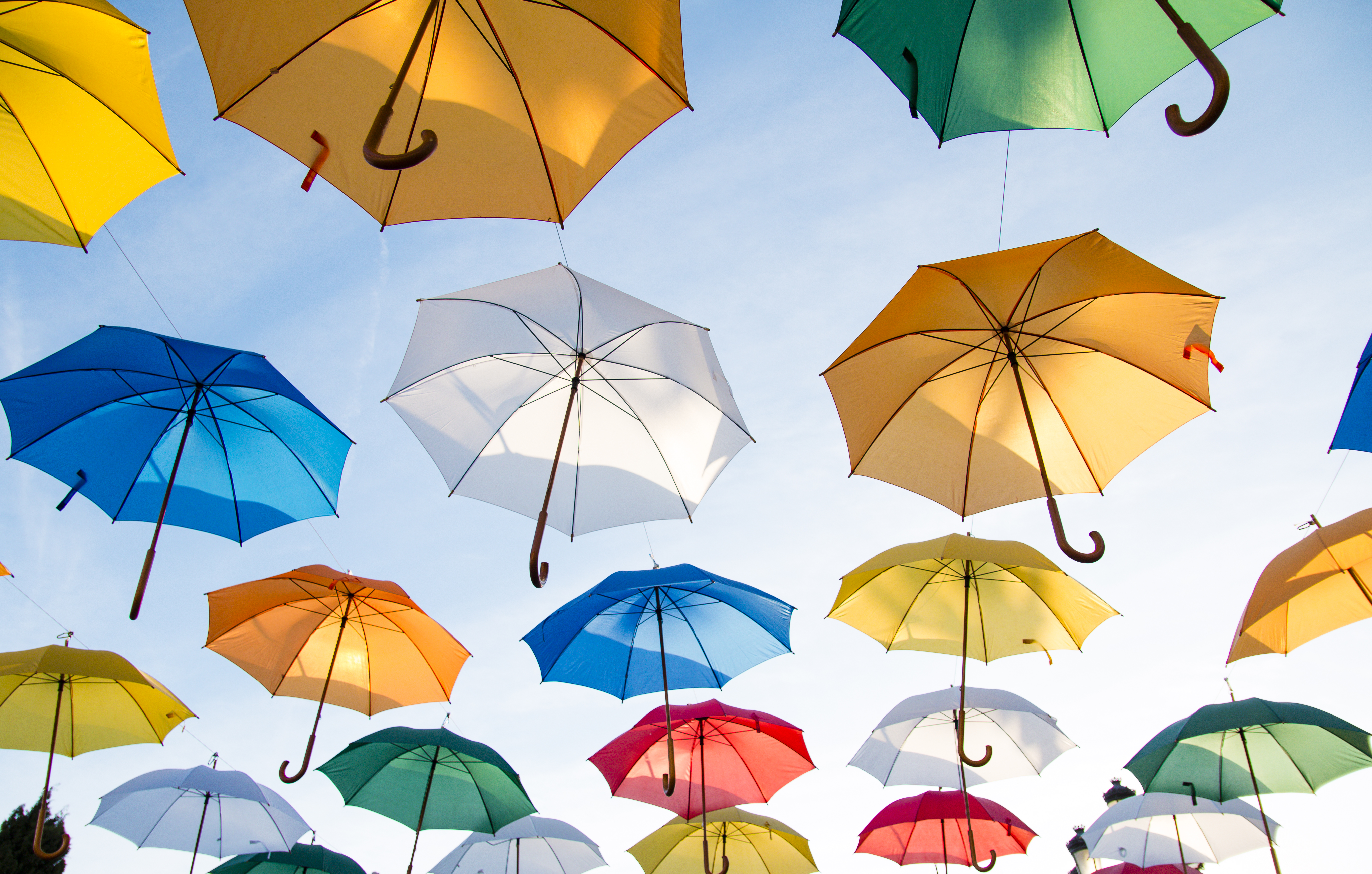 colorful umbrellas 5k retina ultra hd wallpaper and background image