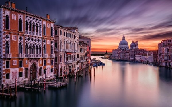 Man Made Venice Cities Italy Grand Canal Building Architecture Boat HD Wallpaper | Background Image