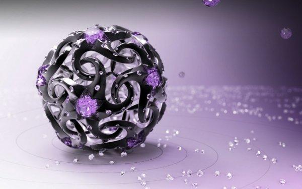 Artistic 3D Art 3D Ball Diamond HD Wallpaper   Background Image