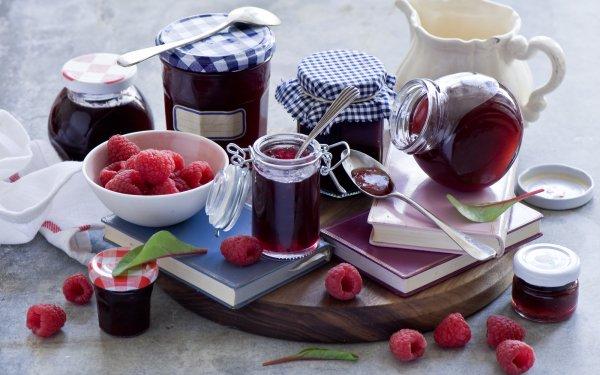 Food Jam Still Life Raspberry Jar HD Wallpaper | Background Image