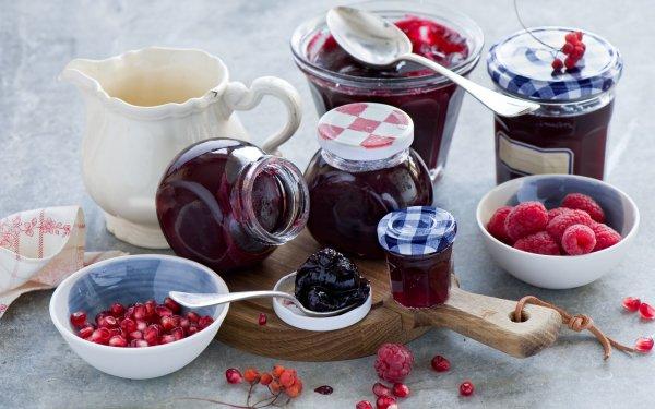 Food Jam Still Life Jar Berry Raspberry HD Wallpaper | Background Image