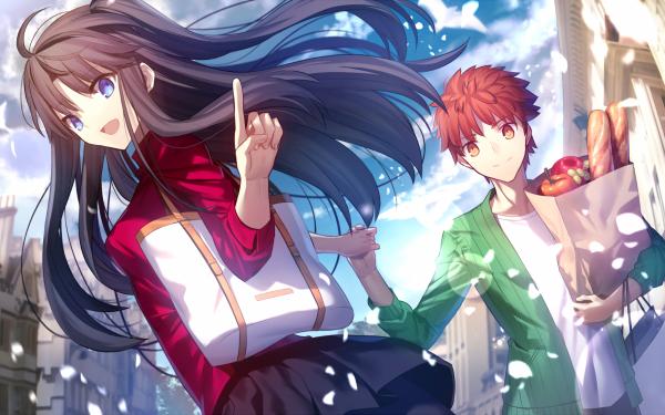 Anime Fate/Stay Night: Unlimited Blade Works Fate Series Shirou Emiya Rin Tohsaka HD Wallpaper | Background Image