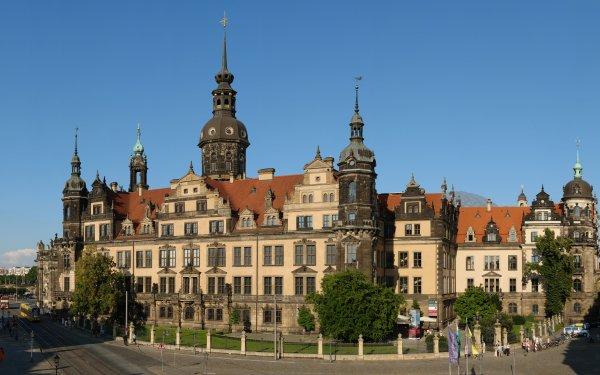 Man Made Castle Castles Dresden Building Tram Street HD Wallpaper | Background Image