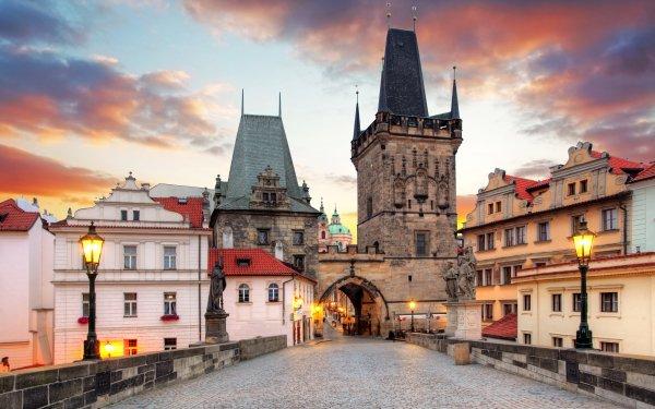 Hecho por el hombre Praga Ciudades República Checa Ciudad Cuadrado Street Light Arquitectura Fondo de pantalla HD | Fondo de Escritorio