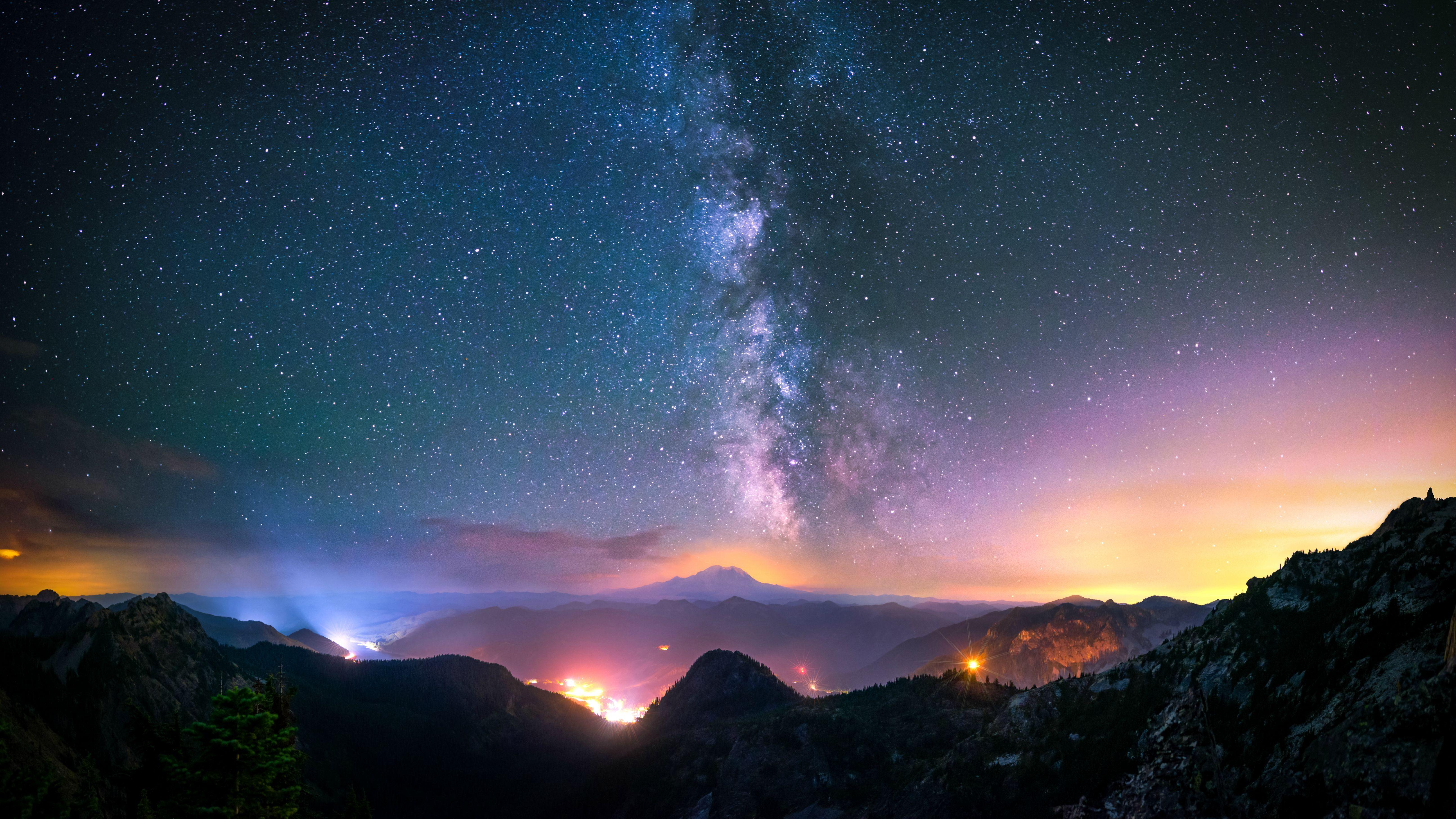 Milky Way 5k Retina Ultra Hd Wallpaper Background Image