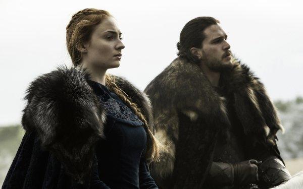 TV Show Game Of Thrones Sansa Stark Sophie Turner Jon Snow Kit Harington HD Wallpaper | Background Image