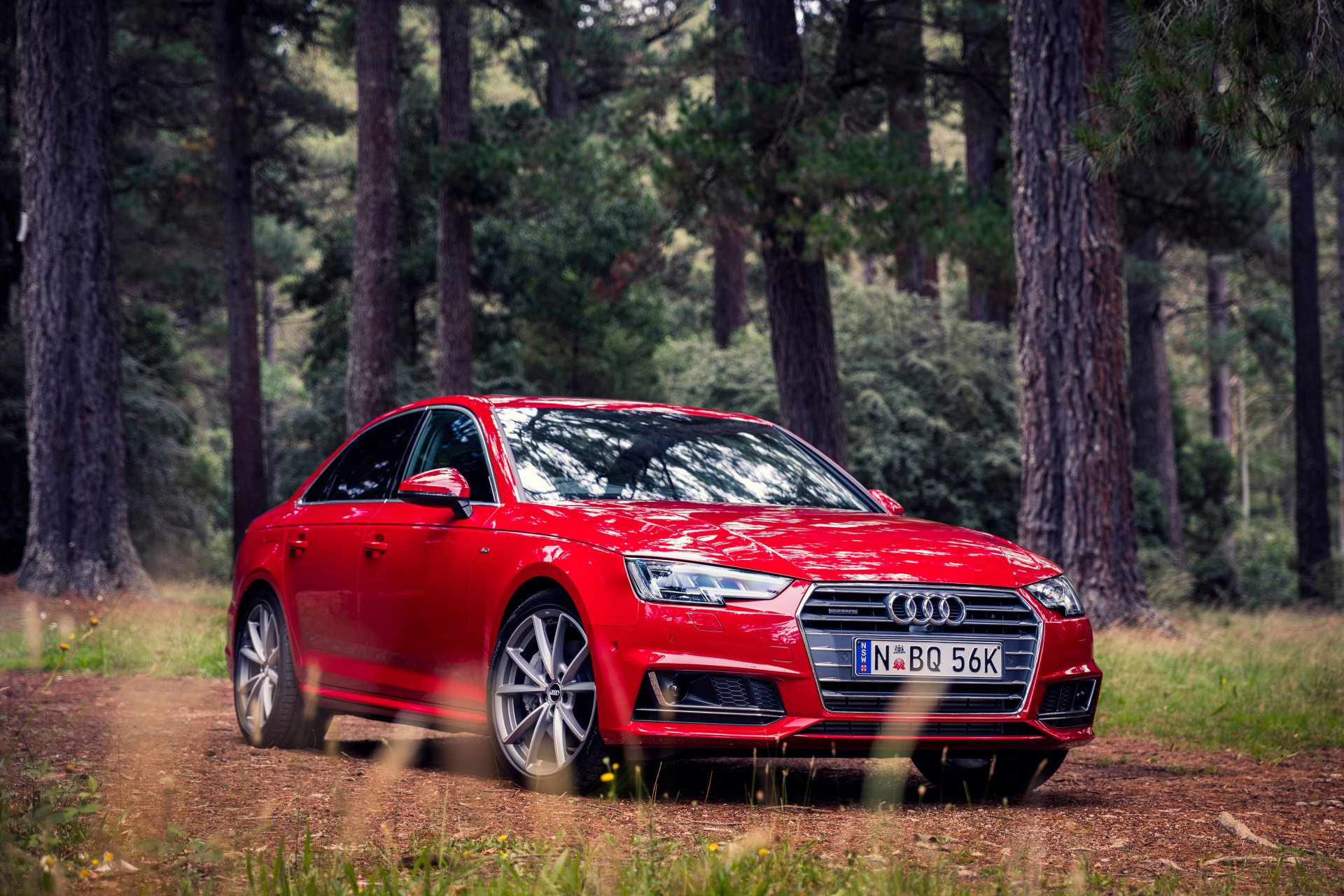 Vehicles - Audi A4  Audi Red Car Luxury Car Car Vehicle Wallpaper