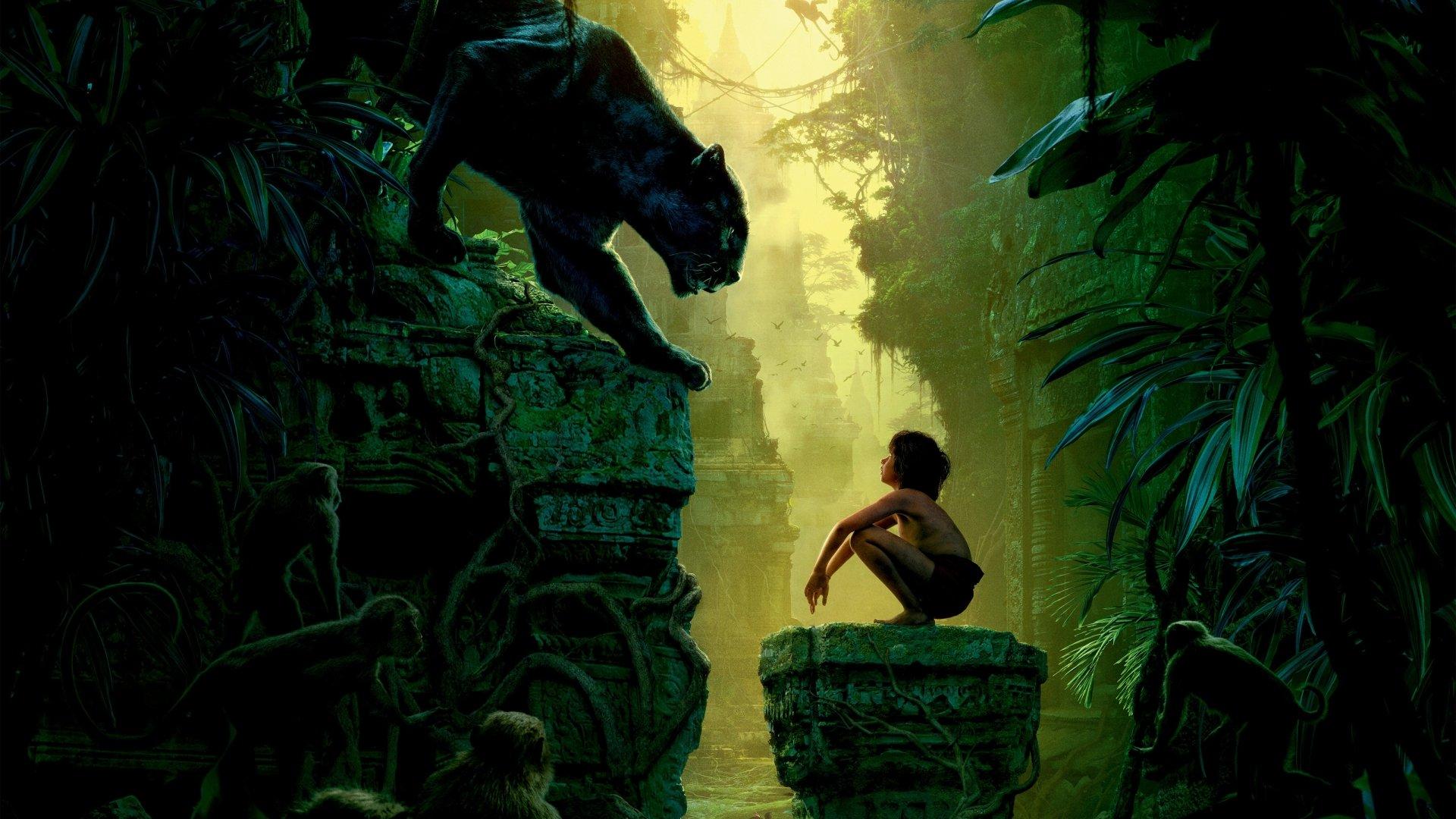 Movie - The Jungle Book (2016)  Bagheera Mowgli Wallpaper