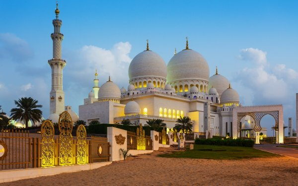Religious Sheikh Zayed Grand Mosque Mosques Mosque Architecture Dome HD Wallpaper | Background Image
