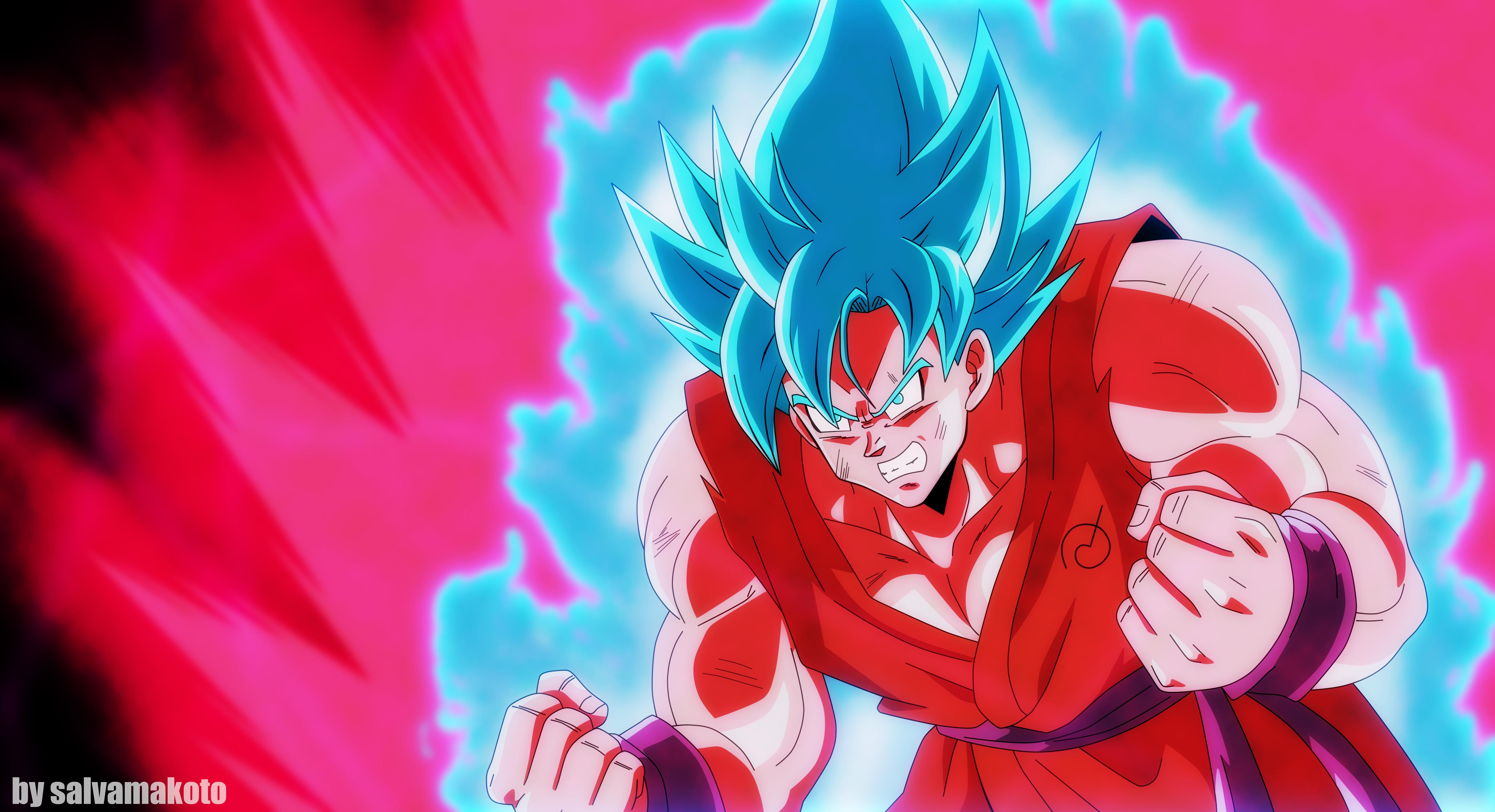 Goku ssgss kaioken 5k retina ultra hd fond d 39 cran and for Fond ecran goku