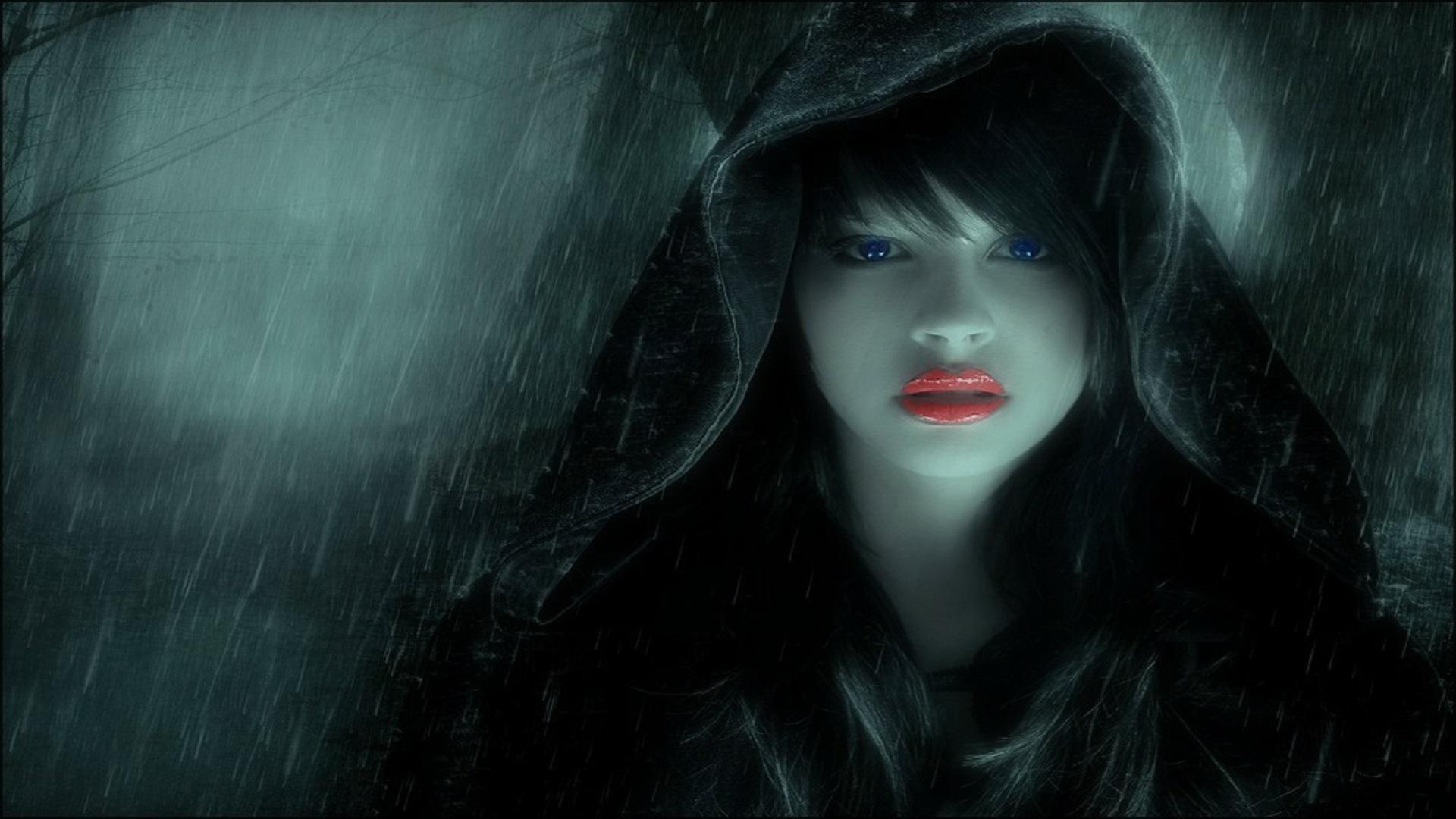 girl on dark wallpaper - photo #10