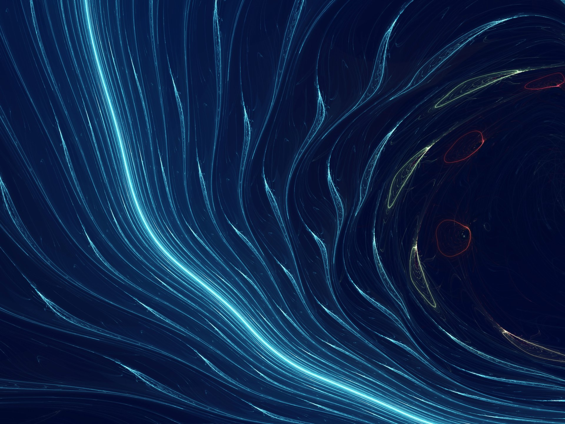 Abstract - Blue  Shapes Wave Wallpaper