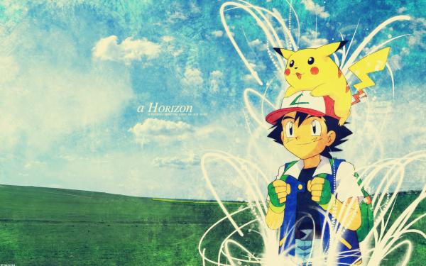 Anime Pokémon Ash Ketchum Pikachu Garçon Cap Fond d'écran HD | Arrière-Plan
