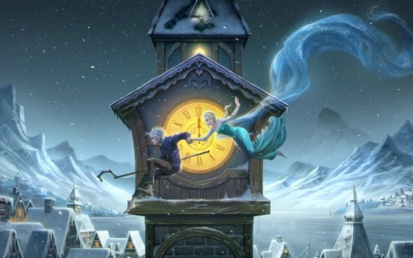 Movie Crossover Rise of the Guardians Jack Frost Frozen Elsa HD Wallpaper | Background Image