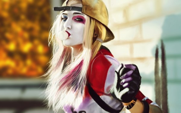 Film Suicide Squad Harley Quinn Blonde Makeup Artistisk Cap HD Wallpaper | Background Image