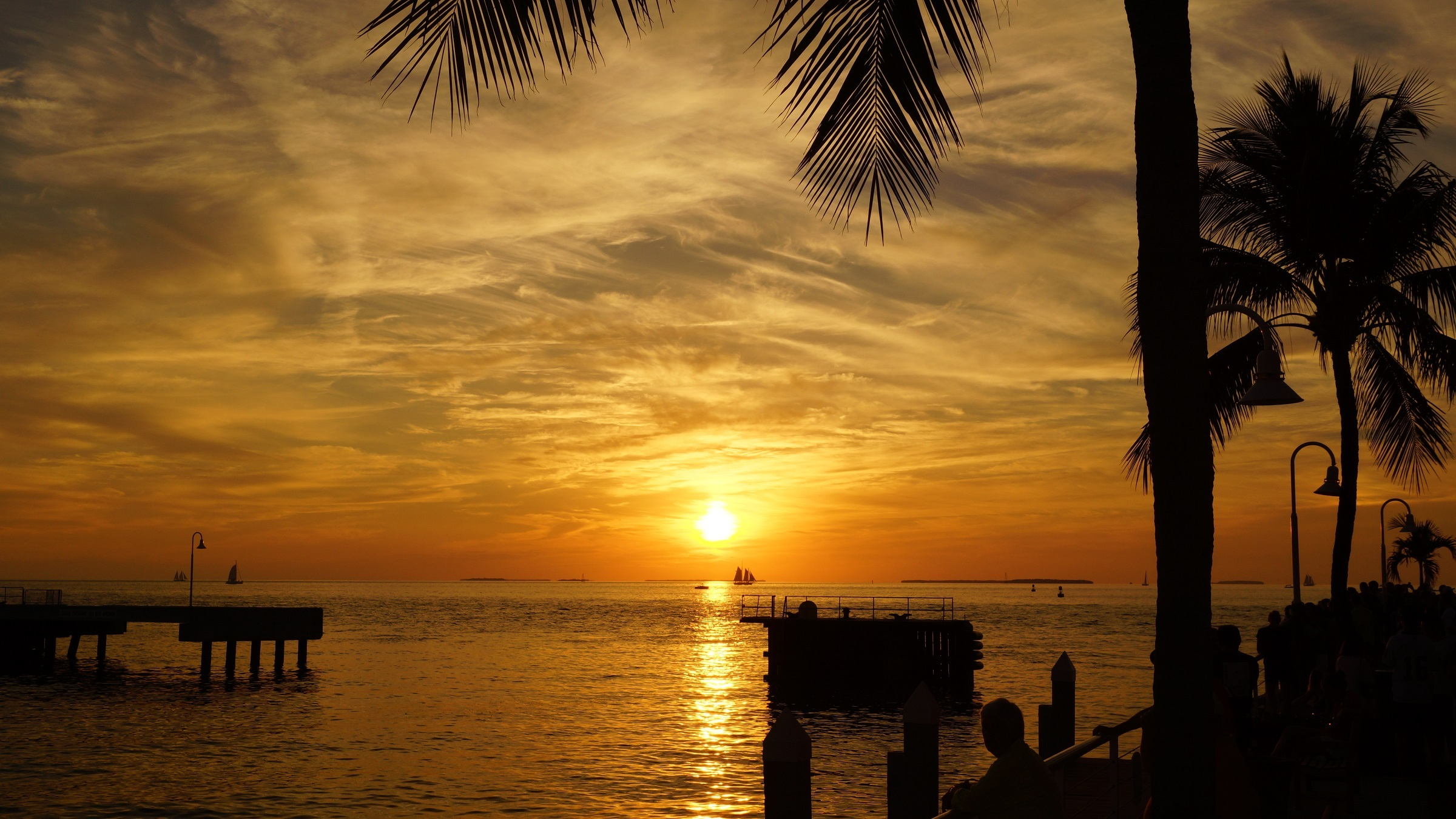 Sunset In Key West Florida Hd Wallpaper Background Image