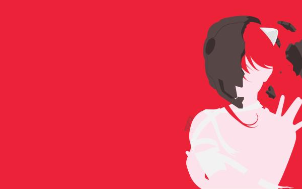 Anime Elfen Lied Lucy Mascara Red Hair Animal Ears Bandage Minimalist Fondo de pantalla HD | Fondo de Escritorio