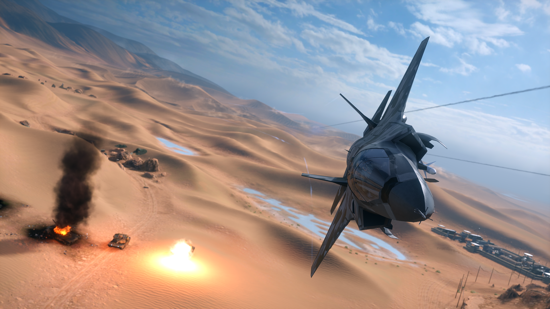 Video Game - Battlefield 4  Desert Jet Fighter Wallpaper