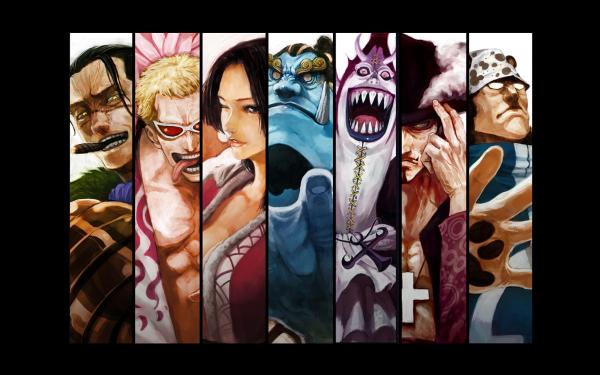 Anime One Piece Crocodile Donquixote Doflamingo Boa Hancock Jinbe Gekko Moriah Dracule Mihawk Franky HD Wallpaper | Background Image