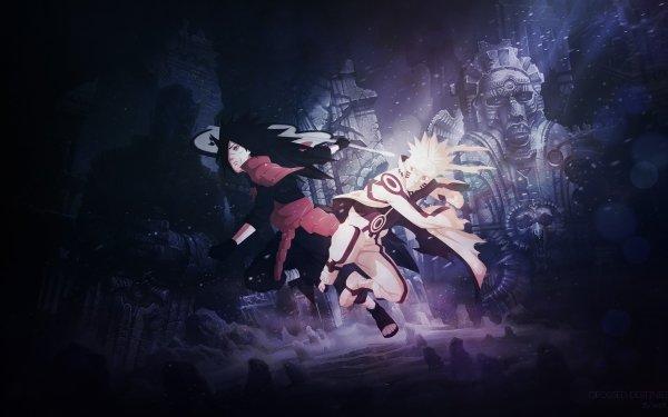 Anime Naruto Naruto Uzumaki Madara Uchiha HD Wallpaper | Background Image