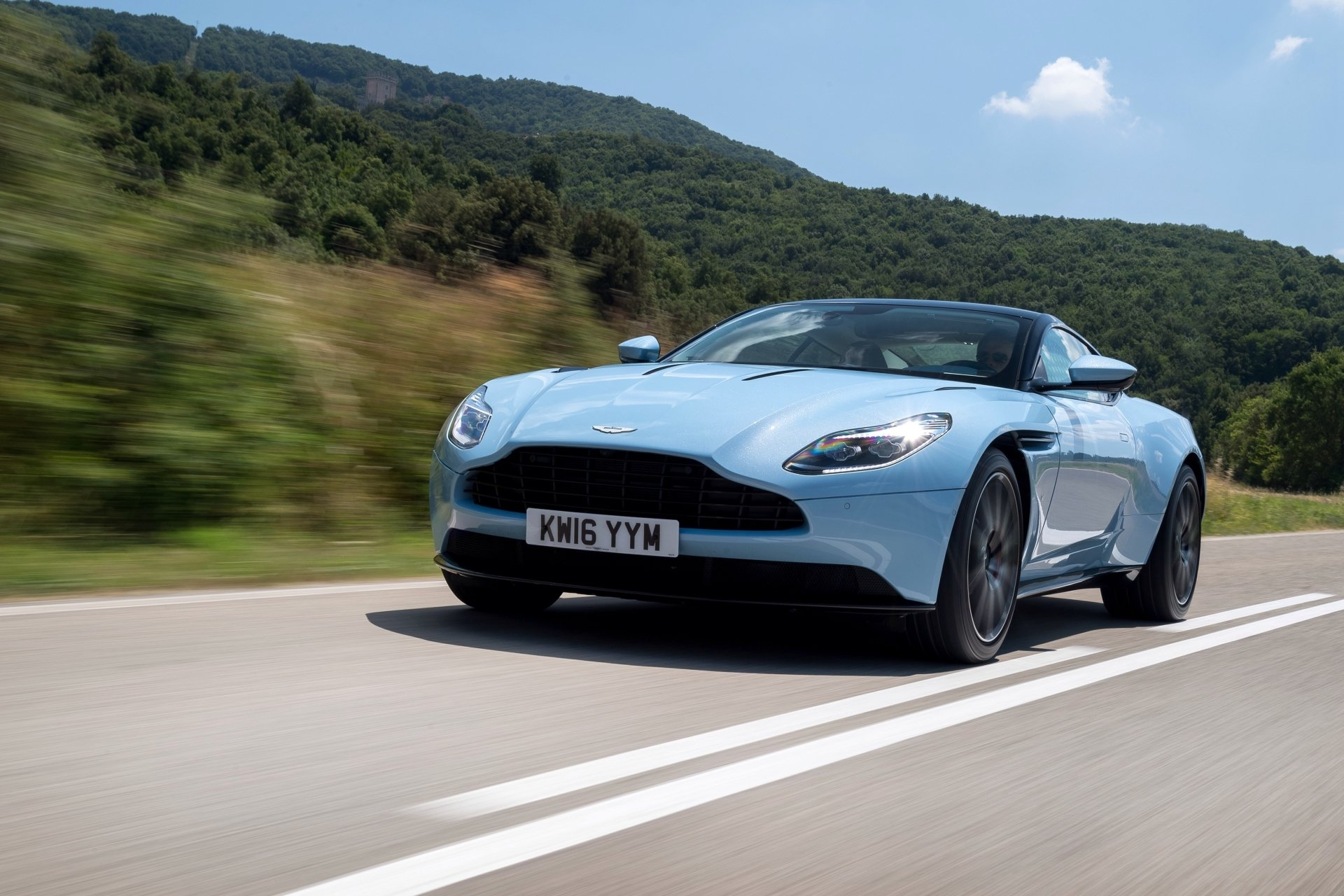 Vehicles - Aston Martin DB11  Aston Martin Grand Tourer Sport Car Blue Car Car Vehicle Wallpaper