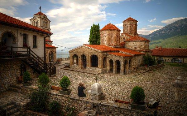 Religious Monastery Brick Stone Architecture HD Wallpaper | Background Image