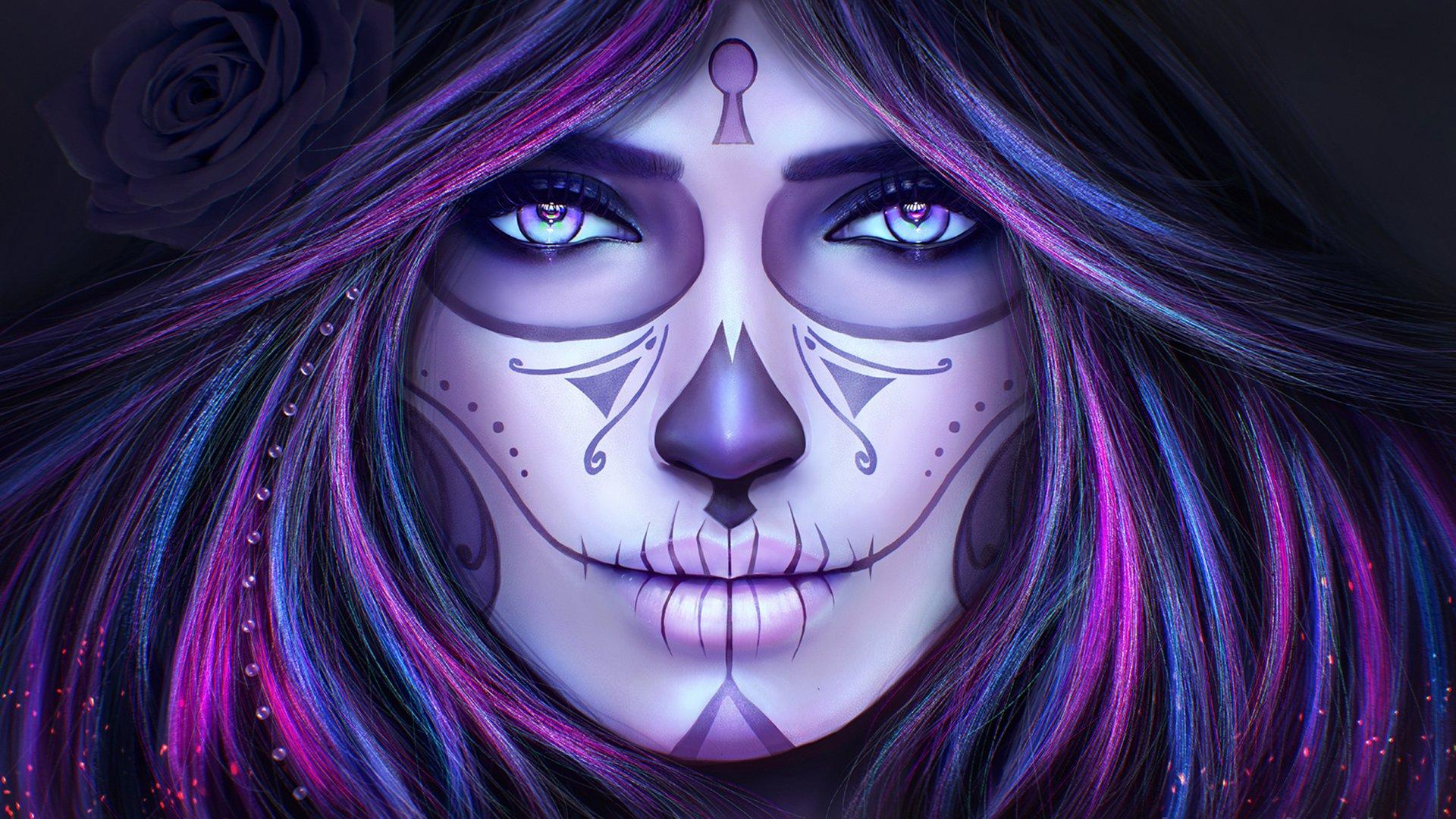 Sugar Skull Woman Wallpapers ID734024