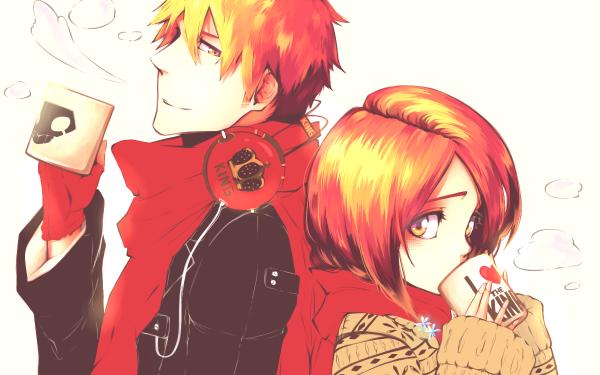 Anime Bleach Orihime Inoue Ichigo Kurosaki Scarf Coffee HD Wallpaper   Background Image
