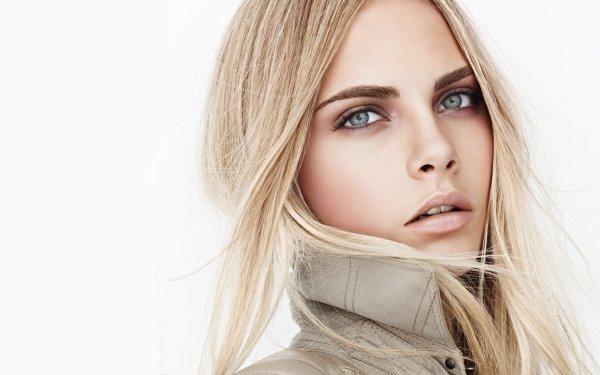 Kändis Cara Delevingne Models United Kingdom English Model Blonde Blue Eyes Face HD Wallpaper | Background Image