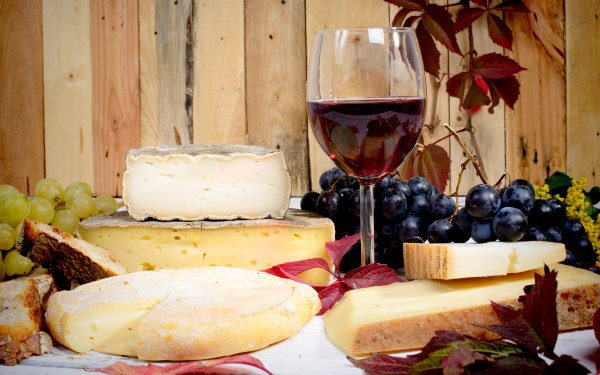 Food Still Life Wine Cheese Grapes Fall HD Wallpaper | Background Image