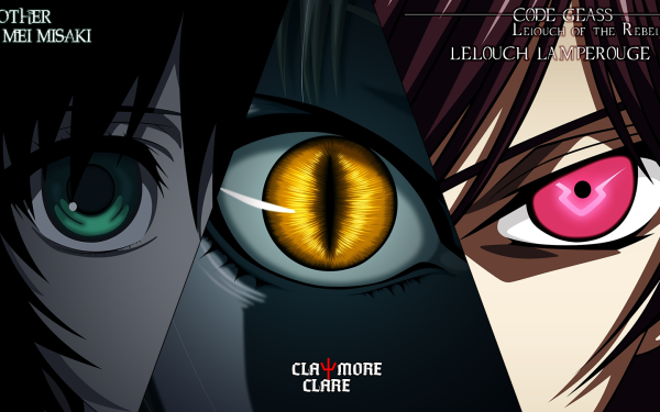 Anime Crossover Mei Misaki Clare Lelouch Lamperouge Claymore Code Geass Another HD Wallpaper | Background Image