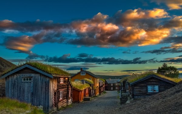 Man Made House Buildings Street Norway HD Wallpaper | Background Image
