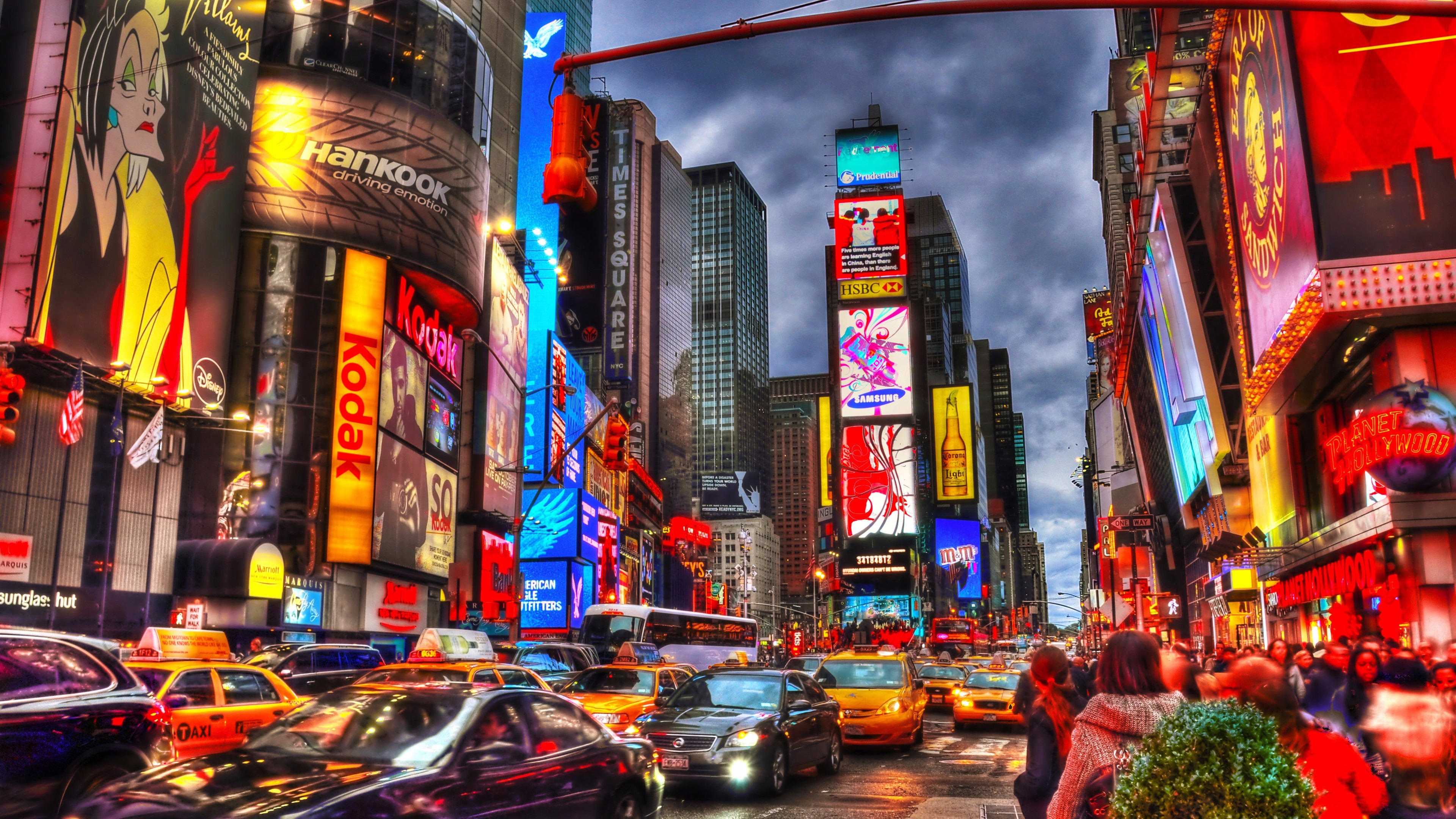 Times Square In Manhattan New York City 4k Ultra Hd