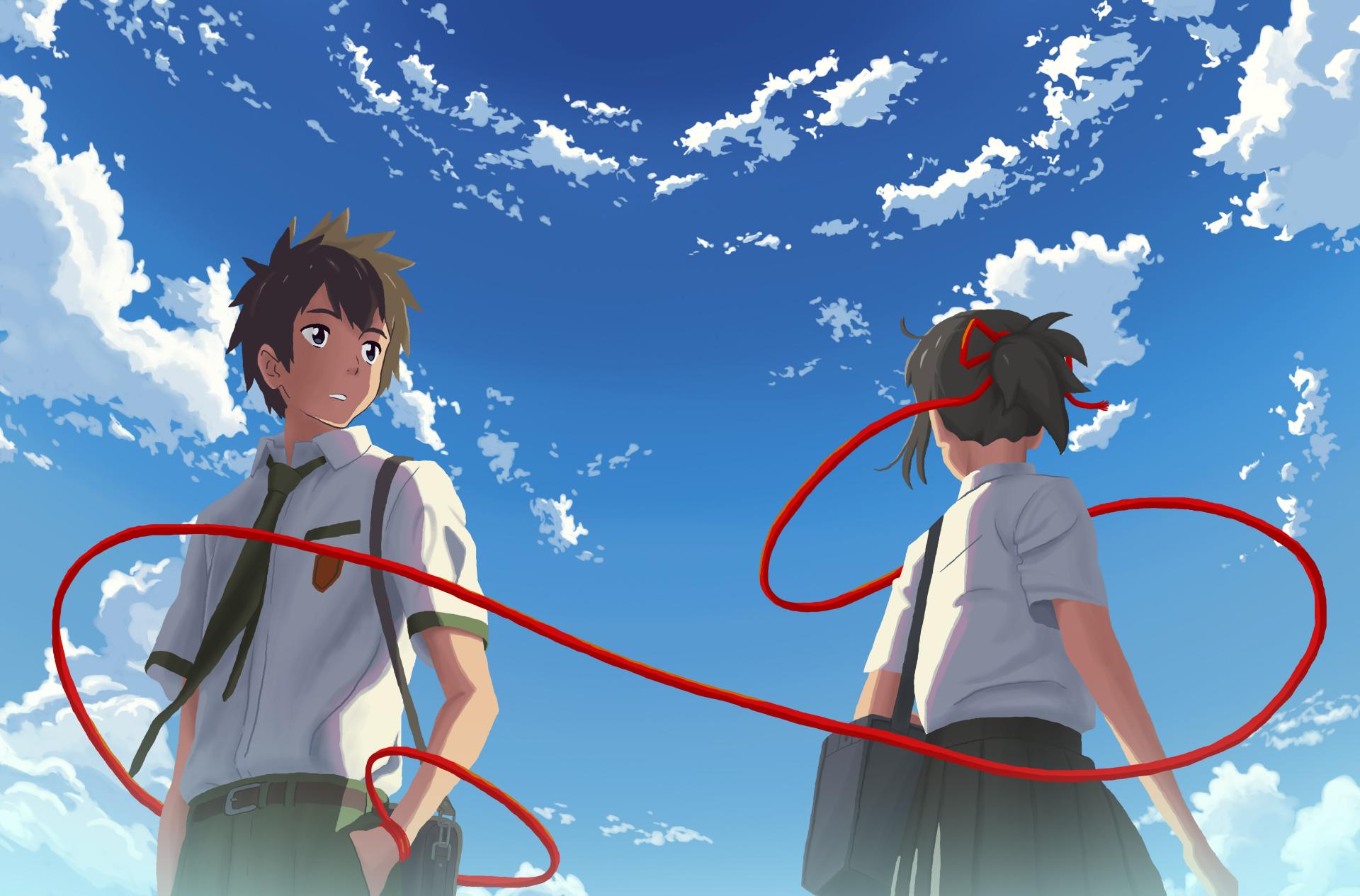 Hd wallpaper kimi no na wa - Kimi No Na Wa Mitsuha Miyamizu Taki Tachibana Hd Wallpaper Background Id 737547