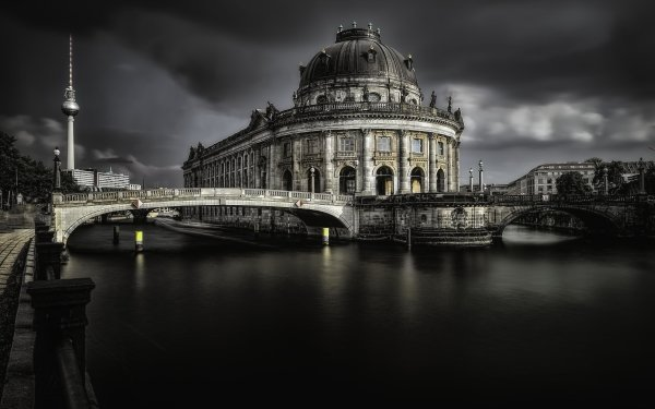 Man Made Bode Museum Buildings Museum River Building Dome Germany Berlin HD Wallpaper | Background Image