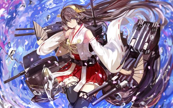 Anime Kantai Collection Kongou HD Wallpaper | Background Image