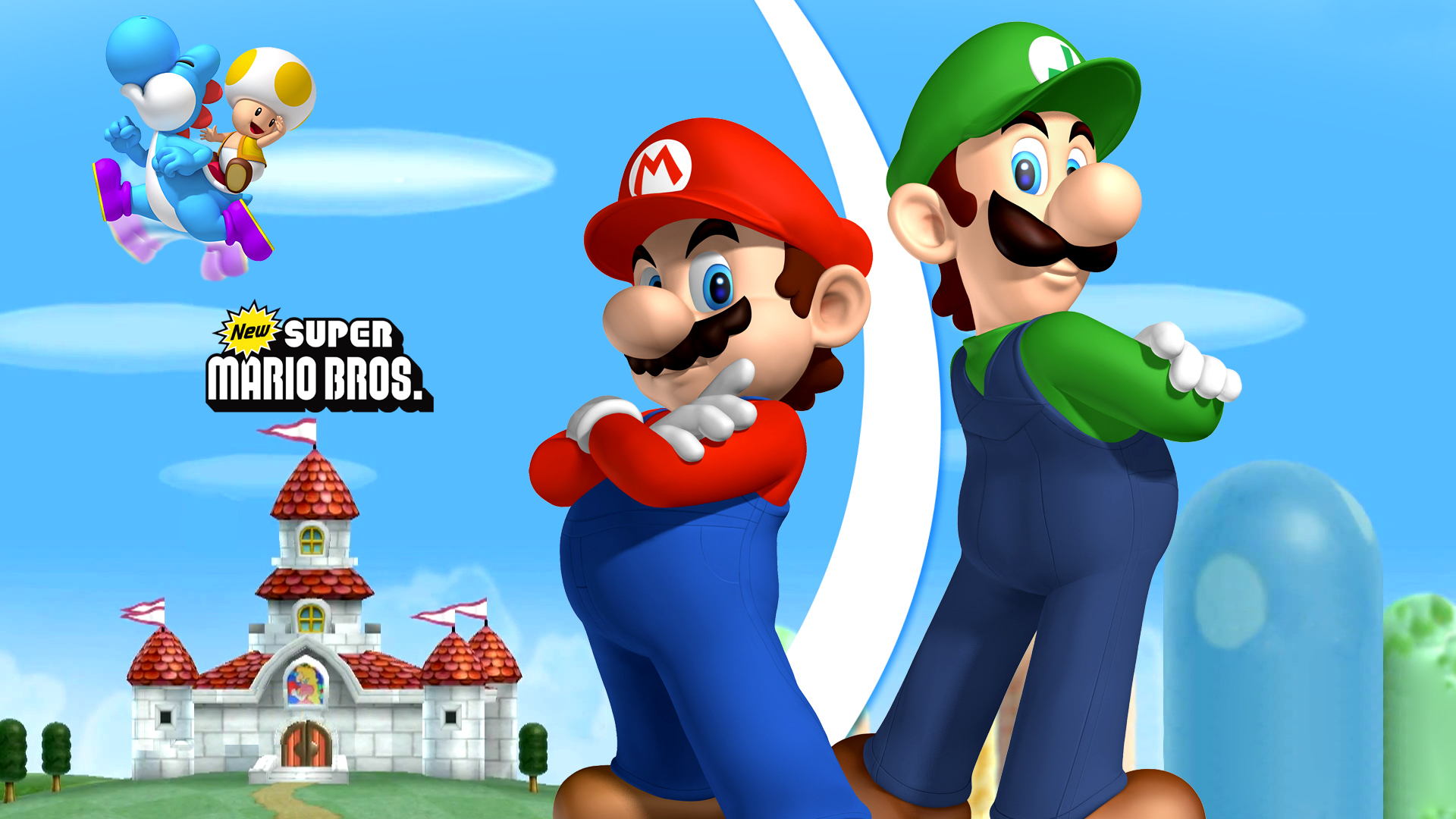Papel Parede Mario ~ New Super Mario Bros Wii Full HD Papel de Parede and Planos de Fundo 1920×1080 ID 739608